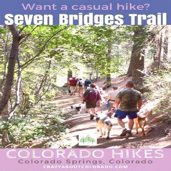A favorite hiking trail in North Cheyenne Canon Park for locals and visitors, Seven Bridges Trail,