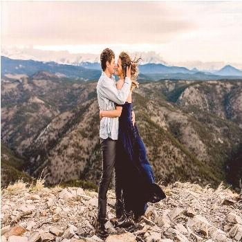 Boulder Colorado Hiking Engagement Photos in the Mountains - Lauren Casino Photography