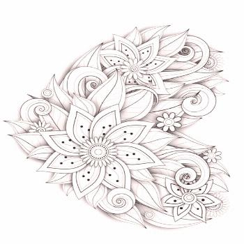 Flower Heart Coloring Page – Adult Coloring Pages Flower Heart Coloring Page – Adult Coloring P