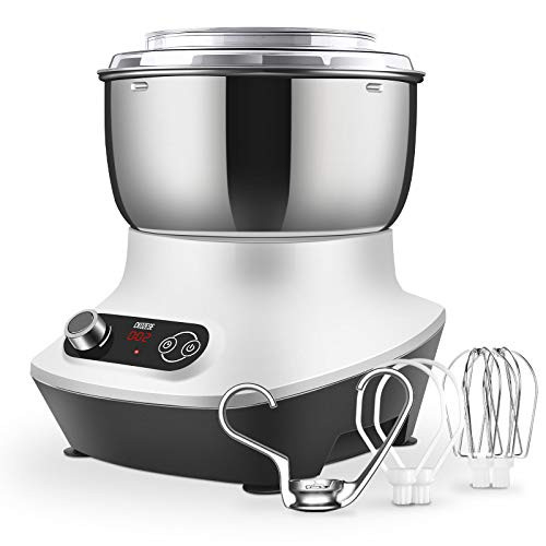 CKOZESE 7 Qt Compact Kitchen Stand Mixer with Stainless
